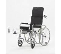 Кресло-коляска механическая стальная Мед-Мос FS954GC (ширина 41, 46 см)