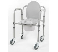 Кресло-туалет складной на колесах 10581Ca