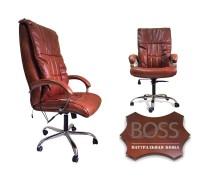 Массажное кресло офисное EGO BOSS EG1001 в комплектации ELITE (нат. кожа)  (разные цвета)