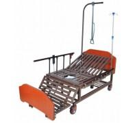 Кровать с электроприводом Belberg 11A-121ПН c туалетным устройством ЛДСП (противопролежневый матрас + столик)