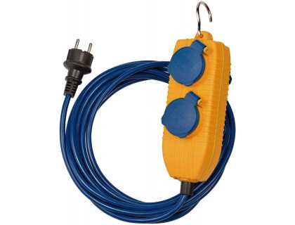 1161750010 Brennenstuhl удлинитель Extension Cable, 5 м., 4 розетки, синий