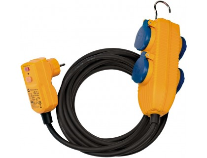 1168720010 Brennenstuhl удлинитель 5 м., RCD Protected Cable, 4 розетки IP54