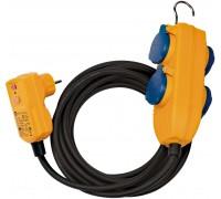 1168730010 Brennenstuhl удлинитель 10 м., RCD Protected Cable, 4 розетки IP54