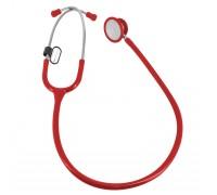 Стетоскоп Amrus 04-AM511 педиатрический с 2-сторонней головкой из стали (красный)