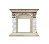 Портал каменный  Dublin арочный сланец крем (под классический очаг) (слоновая кость с патиной)