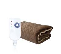 Плюшевое электроодеяло/электроплед TEDDY (150х180см) S282 EcoSapiens, цвет коричневый