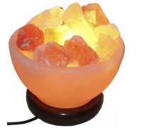 Солевая лампа ВАЗА С КАМНЯМИ вес 1-2 кг