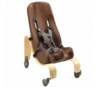 Кресло Ситтер Сит Special Tomato с деревянной базой на колесах цвет шоколад