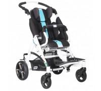 Детская прогулочная коляска Patron Tom 5 Streeter (T5SWKPMYY) черный/голубой (белый)