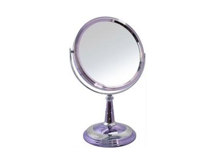 """Зеркало настольное косметическое 153518 (B8""""809 BCP/C) 2-стор. 10-кр.ув. 20см с крист.(8), цвет-никель/хром"""
