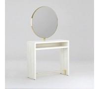 Зеркало парикмахерское Crocus Duo (Дуб Крафт Белый + Золото) Karat