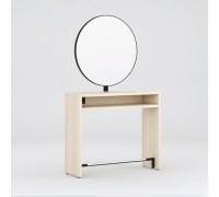 Зеркало парикмахерское Crocus Duo (Дуб Крафт Белый + Черный металл) Karat