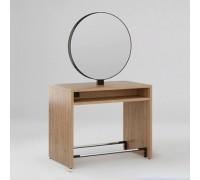 Зеркало парикмахерское Crocus (Орех Селект + Черный металл) Karat