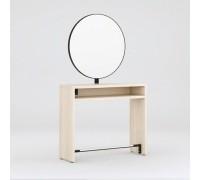 Зеркало парикмахерское Crocus (Дуб Крафт Белый + Черный металл) Karat