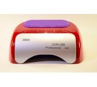 Лампа гибридная для сушки ногтей УФ CCFL/LED Professional Nail 48W, цвет красный