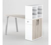 Маникюрный стол FORMIX (12889) Дуб устричный / Белый снег