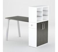 Маникюрный стол FORMIX (12889) Морское дерево Карбон / Белый снег