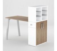 Маникюрный стол FORMIX (12889) Орех темный Select / Белый снег