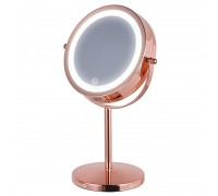 HASTEN Косметическое зеркало с LED подсветкой (цвет корпуса красное золото) - HAS1813
