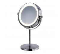 HASTEN Косметическое зеркало с LED подсветкой (цвет корпуса серебристый) - HAS1811