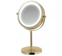 HASTEN Косметическое зеркало с LED подсветкой (цвет корпуса золотистый) - HAS1812