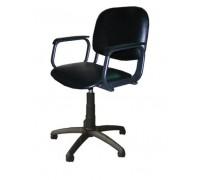 Кресло парикмахерское КОНТАКТ цвет черный (газ-лифт, 5-тилучье пластик)