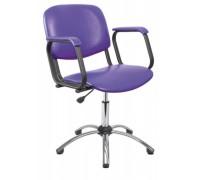 Кресло парикмахерское КОНТАКТ цвет черный (газ-лифт, 5-тилучье хром)