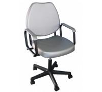 Кресло парикмахерское СОЛО цвет черный (газ-лифт, 5-тилучье пластик)
