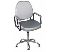 Кресло парикмахерское СОЛО цвет черный (газ-лифт, 5-тилучье хром)
