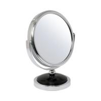 Зеркало BIC-0245F-4 настольное круглое 2-стороннее 2-кр. увеличение d=12 см (195449)