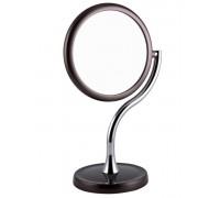 Зеркало настольное косметическое 54212 ST-465 BROWN