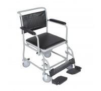 Кресло-каталка (кресло-туалет) складное на колесах с подпорками для ног VCWK2, VITEA CARE