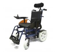 Кресло-коляска электр. Титан LY-103-RC (Recliner) (48см) передние литые 20х6,8 см, задние пневмо 34х