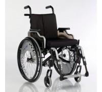 Кресло-коляска Старт Комфорт серебристый металлик (пневмо колеса)