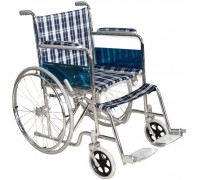 Кресло-коляска Оптим FS874 с ручн. прив.,склад (синяя клетка)