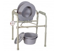Кресло-туалет Амр AMCF96 (6806) облегченное складное со спинкой
