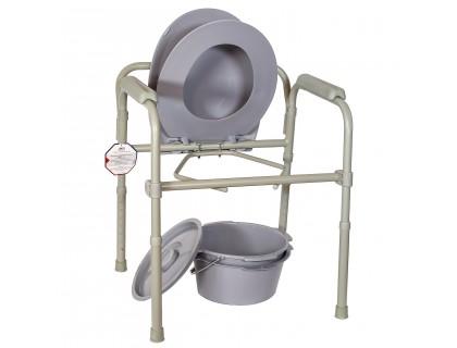Кресло-туалет Amrus AMCB6803 стальное   со спинкой