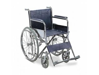 Кресло-коляска (ММ) FS901механическая стальная (кожзам)