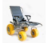 Кресло-коляска инвалидная пляжная Оптим Модель BW-200 QUATTRO