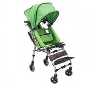 Кресло-коляска детская Barry K4 с капюшоном (ширина сиденья 30 см) цвет обивки зеленый