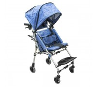 Кресло-коляска детская Barry K4 с капюшоном (ширина сиденья 35 см) цвет обивки синий