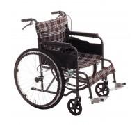 Кресло-коляска механическая MET 875 (17015) (ширина сид. 46 см) пневмо колеса