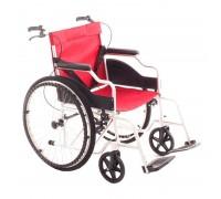 Кресло-коляска механическая MET 875AL (17017) (ширина сид. 45 см) пневмо колеса, алюминиевая рама