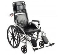 Кресло-коляска механическая МЕТ 988 (17018) (ширина сид. 46 см) с туалетным оснащением