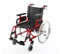 Кресло-коляска Симс 7018A0603PU/J облегченная, цвет рамы красный (ширина 40, 43, 46, 48 см)