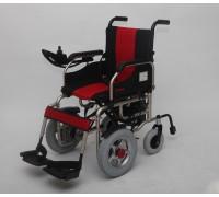 Кресло-коляска с электроприводом Мега-Оптим PR1008 (PR110А) (красно-черная, сине-черная)