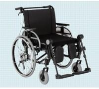 Кресло-коляска комнатная Отто Бокк Старт XXL светло-голубой металлик (литые колеса)
