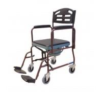 Кресло-каталка Титан LY-800-690-P (43см) с туалетным устройством, складная, цвет красный
