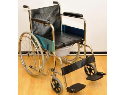Кресло-коляска с санитарным оснащением FS681-45