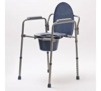 Кресло-стул с санитарным оснащением DRVW01, складное, с регулировкой высоты, до 100 кг (VITEA CARE)